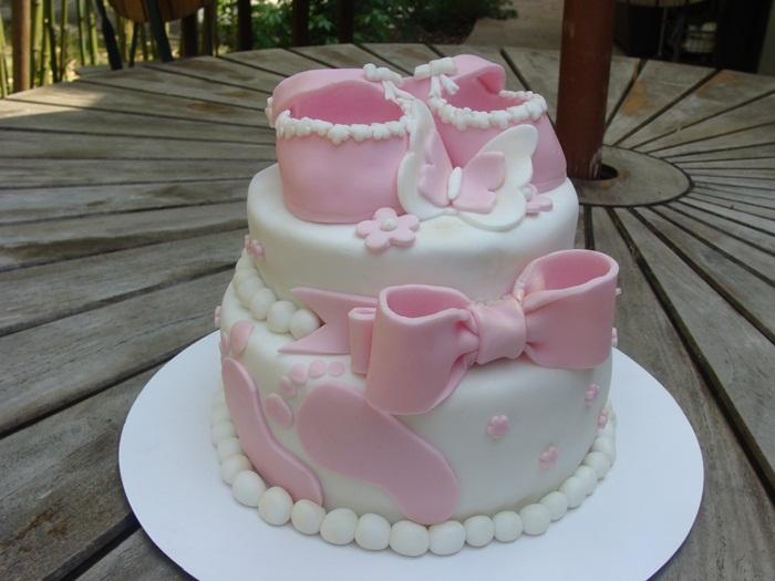 La baby shower de sophie suite ma bo te g teau cake designer p tissier - Gateau bebe fille ...