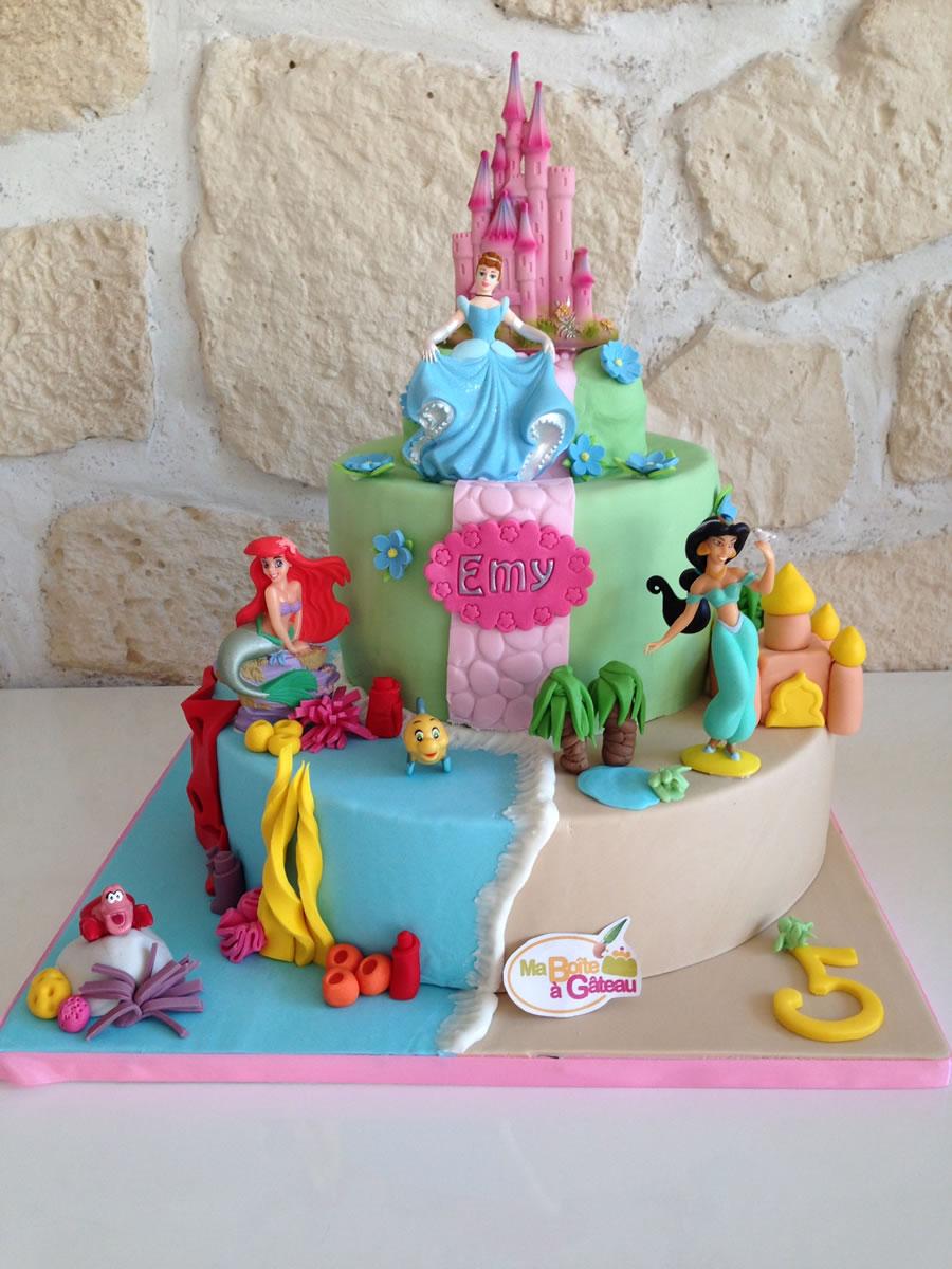 Cendrillon ariel et yasmine ma bo te g teau cake designer p tissier - Decoration gateau professionnel ...