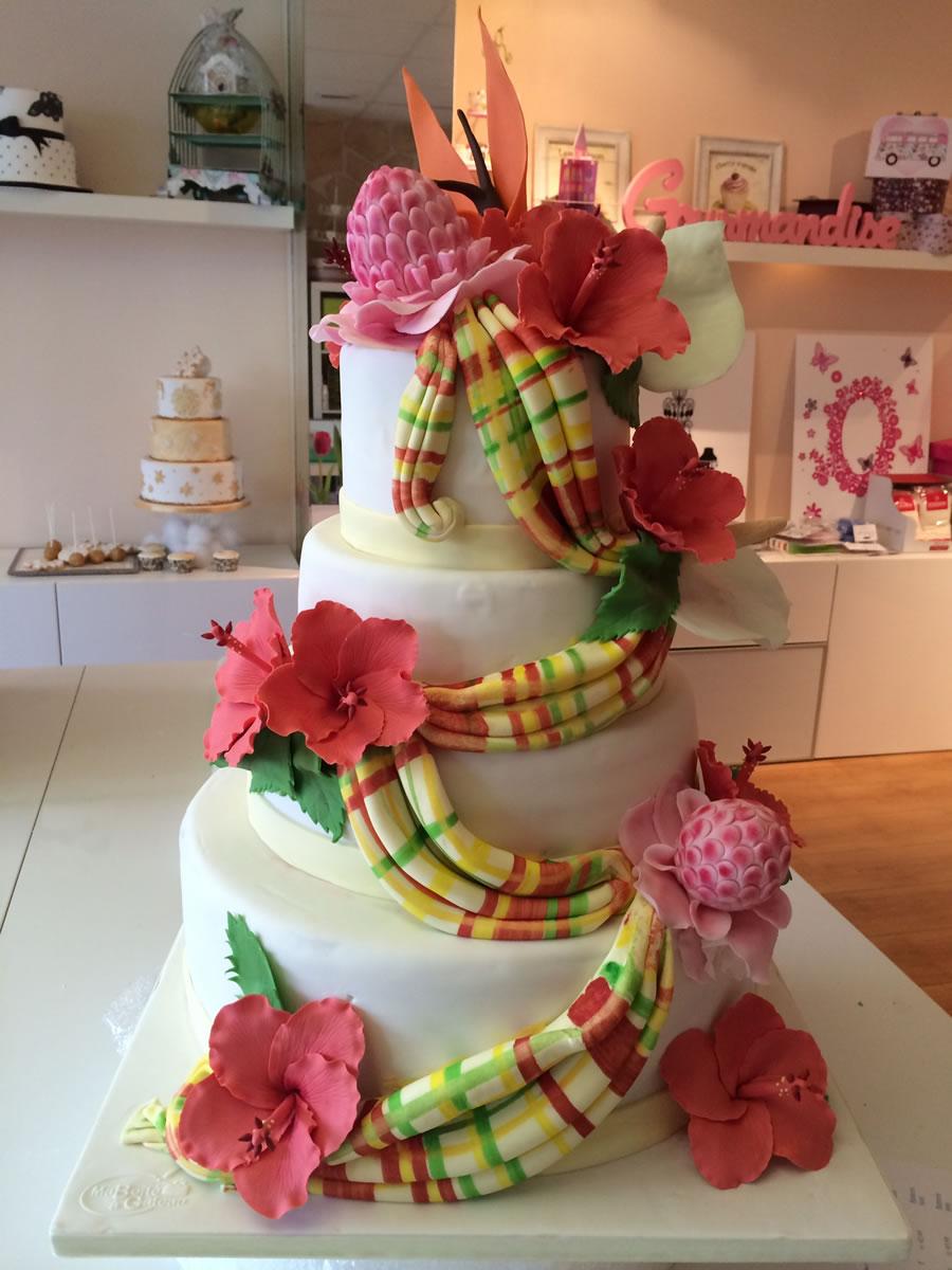 Wedding Cake exotique  Ma Boîte à Gâteau Cake Designer Pâtissier