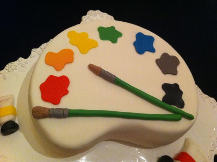 Le g teau palette dessin ma bo te g teau cake for Palette de peinture pour cuisine