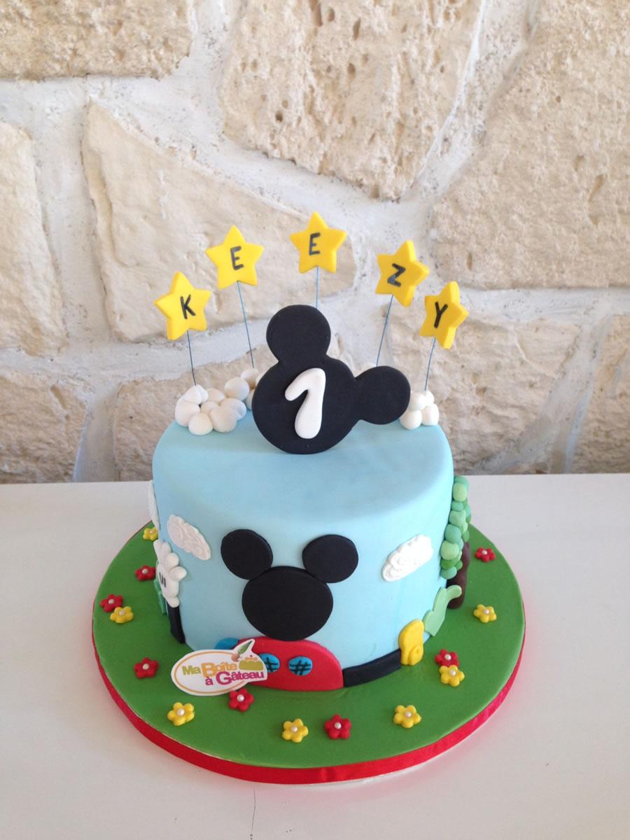 La maison de mickey ma bo te g teau cake designer p tissier - Decoration mickey anniversaire ...
