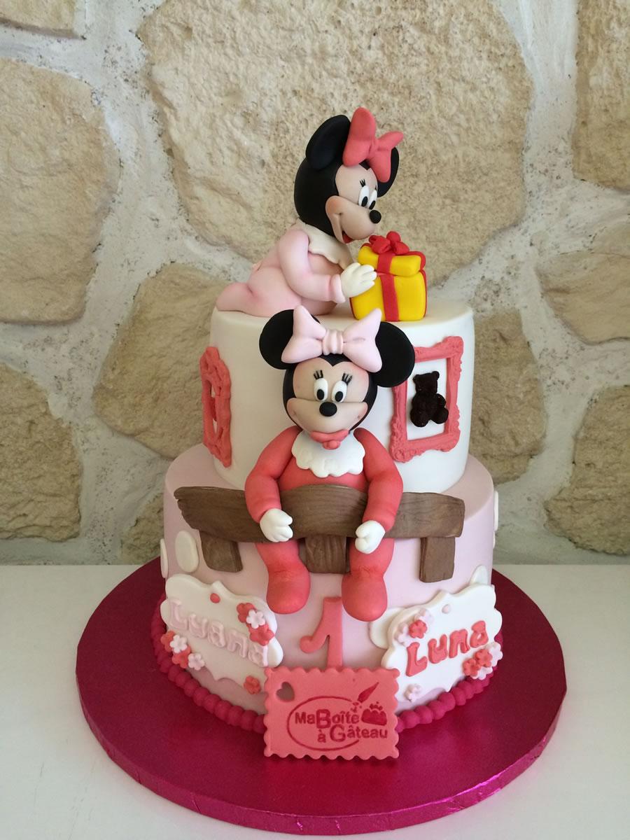 2 Jolies Minnies Ma Boîte à Gâteau Cake Designer Pâtissier